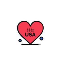 heart love american usa business logo template vector image