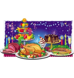 Holiday dinner vector