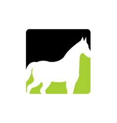 horse animal logo icon design vector image