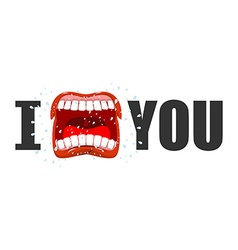 I hate you shout symbol of hatred and antipathy vector