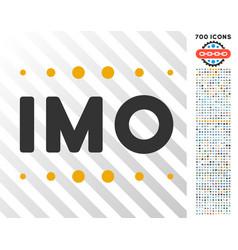 Imo caption flat icon with bonus vector