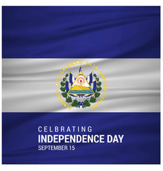 independence day of el salvador patriotic banner vector image