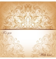 Invitation card with filigree elements vector