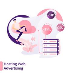 landing page hosting web advertising modern vector image