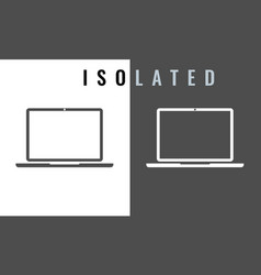 laptop icon black and white color vector image
