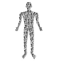 Leg human figure vector