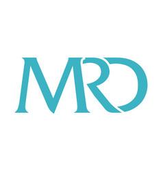 Letter mrd modern vector