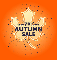 linear autumn sale banner vector image