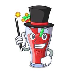 Magician fresh watermelon juice isolated on mascot vector
