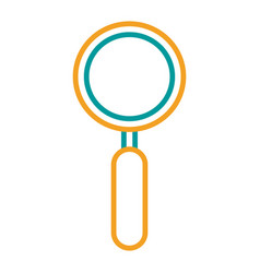 Magnifier search technology exploration icon vector