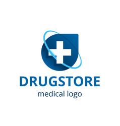 Medical center or drugstore logo template vector