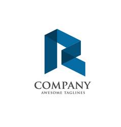 modern letter r logo concept vector image