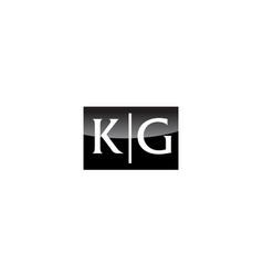 Modern logo solution letter kg vector