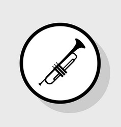musical instrument trumpet sign flat vector image