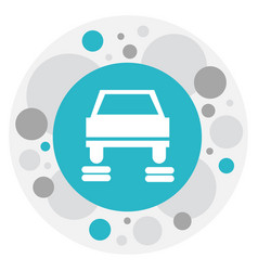 of car symbol on service icon vector image