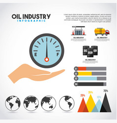 Oil industry infographic transport station vector