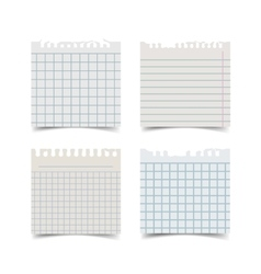 Old fashion sticky notebook paper sheet vector