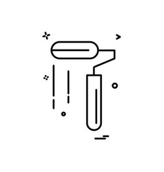 paint roller icon design vector image