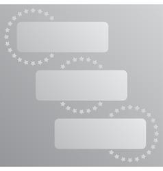 Paper Banner Mockup Cogwheel Gear Icon vector image