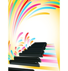 piano background vector image vector image