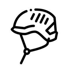 Protection helmet alpinism equipment icon vector