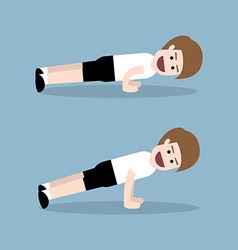 push up exercise vector image