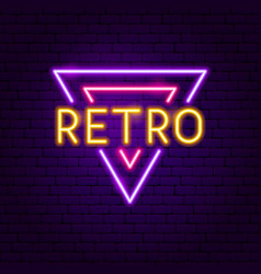 Retro neon label vector