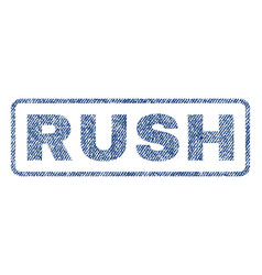 Rush textile stamp vector