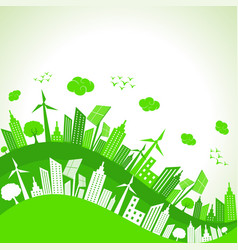 Save nature concept with ecocity vector