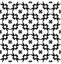 Seamless pattern black white geometric ornament vector