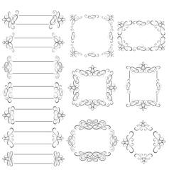 set - calligraphic design elements vector image