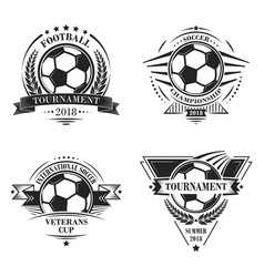 set of sport logotypes or emblems in retro style vector image