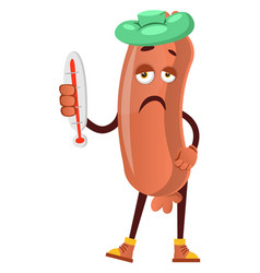 Sick sausage on white background vector