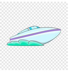 Speed boat icon cartoon style vector