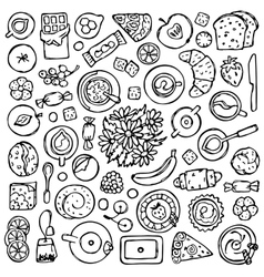 Sweets Doodle Set vector image