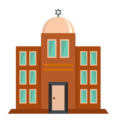 synagogue icon flat style vector image