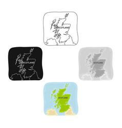 territory scotland icon in cartoonblack style vector image