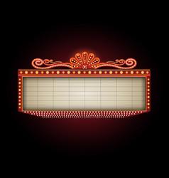 Theater sign billboard frame design vector
