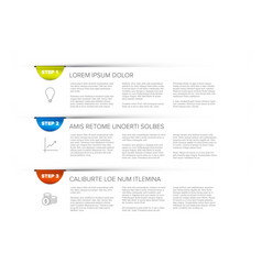 three steps template vector image