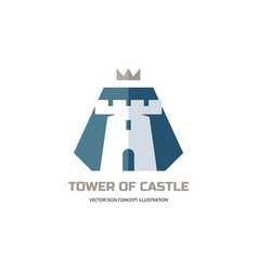 tower castle - logo template concept vector image