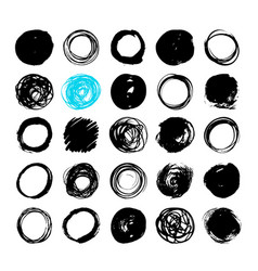 uniqiue handdrawn shapes of cirles for logo design vector image