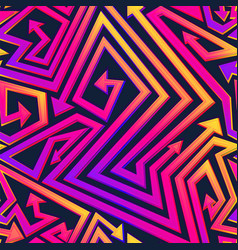 vibrant geometric arrow seamless pattern vector image