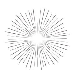 vintage hand drawn sunburst vector image