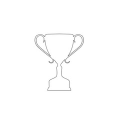 winner trophy cup flat icon vector image