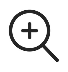 zoom in icon vector image