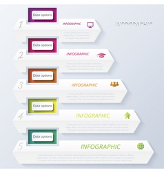 Abstract design infographic with numbers vector image