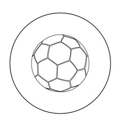 football icon outline single sport icon from the vector image