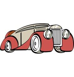 luxury mafia car vector image
