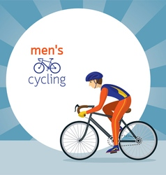Man in Protective Sportswear Cycling Road Bicycle vector image vector image
