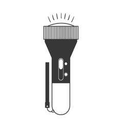 monochrome silhouette of flashlight vertical vector image